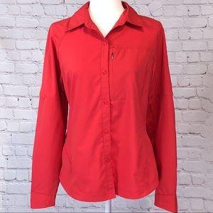EUC Columbia Omni-Shade Long Sleeve Button Up M